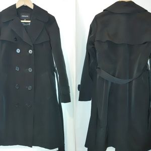 London Fog Double Breasted Classic Trench Black SP